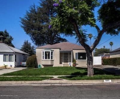 Pasadena Single Family Home For Sale: 1981 Mentone Avenue