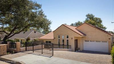 La Canada Flintridge Single Family Home For Sale: 1120 Green Lane
