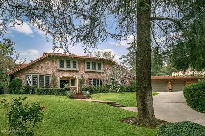 La Canada Flintridge Single Family Home For Sale: 5111 Alta Canyada Road