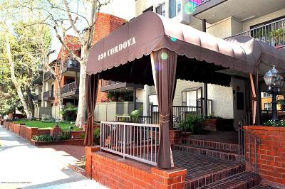 Pasadena Condo/Townhouse For Sale: 330 Cordova Street #202