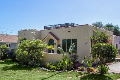 Pasadena Single Family Home For Sale: 247 Vista