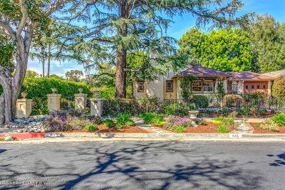 Pasadena Single Family Home For Sale: 445 Alpine Street