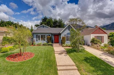Altadena Single Family Home For Sale: 1809 Sonoma Drive