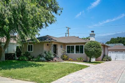 Pasadena Single Family Home Active Under Contract: 2441 Monte Vista Street