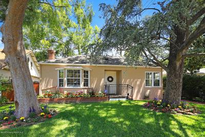 Pasadena Single Family Home For Sale: 2019 Monte Vista Street