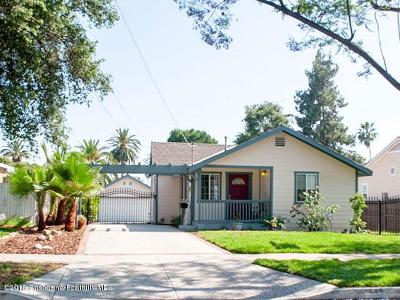 Pasadena Single Family Home For Sale: 542 Del Monte Street