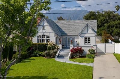 Altadena Single Family Home For Sale: 249 West Terrace Street