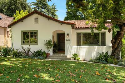 Altadena Single Family Home For Sale: 2478 Highland Avenue