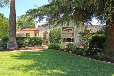 San Marino Single Family Home For Sale: 1722 Hilliard Drive
