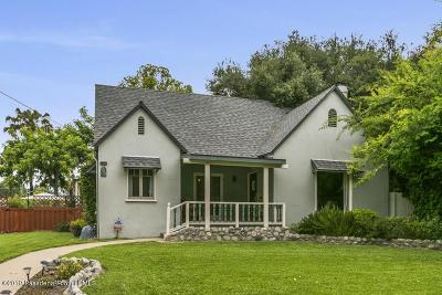 Pasadena Single Family Home Active Under Contract: 737 Belvidere Street