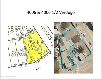 Glassell Park Residential Lots & Land For Sale: 4006 Verdugo Road