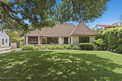 Pasadena Single Family Home Active Under Contract: 2374 East Orange Grove Boulevard