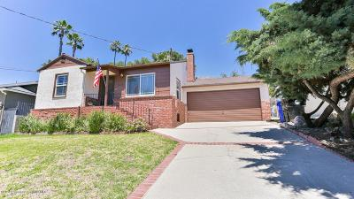 La Crescenta Single Family Home For Sale: 3039 Brookhill Street