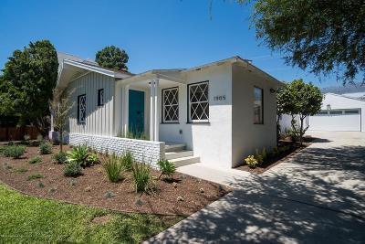 Pasadena Single Family Home Active Under Contract: 1905 East Mountain Street