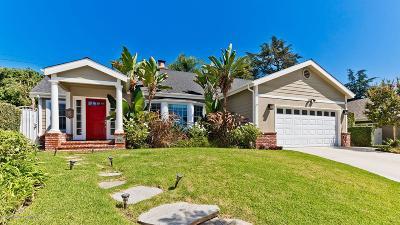 Pasadena Single Family Home For Sale: 1301 Mount Vernon Place