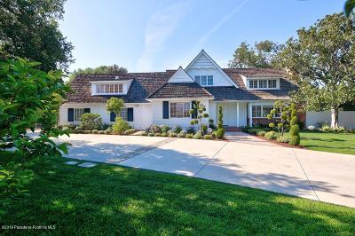 San Marino Single Family Home For Sale: 2305 Robles Avenue