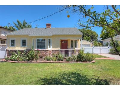 Valley Village Single Family Home For Sale: 12329 Hesby Street