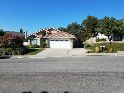 Saugus Single Family Home For Sale: 28019 Caraway Lane