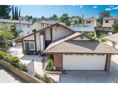 Saugus Single Family Home For Sale: 27549 Saffron Lane