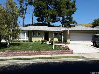 Saugus Single Family Home For Sale: 22623 Aguadero Place