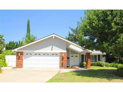Northridge Single Family Home For Sale: 18567 Merridy Street