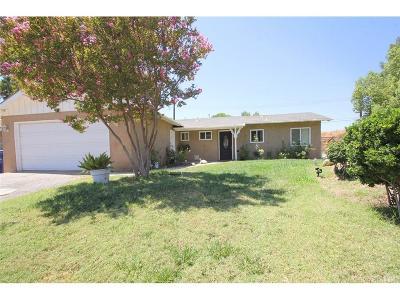 Saugus Single Family Home For Sale: 27351 Denoya Drive