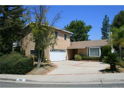 Agoura Hills Single Family Home For Sale: 5512 Gladehollow Court