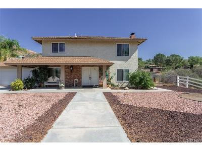 Acton Single Family Home For Sale: 31310 Indian Oak Road