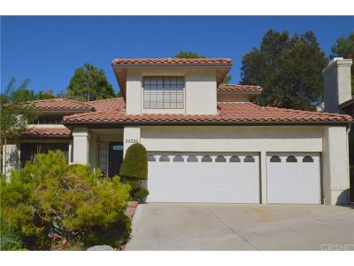 Newhall Single Family Home For Sale: 24226 Mentry Drive
