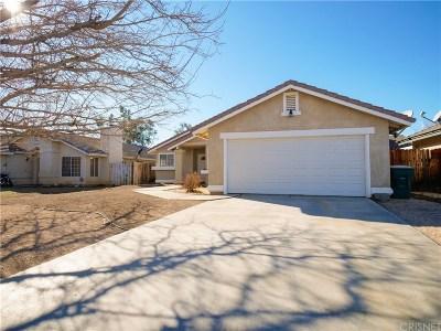 Rosamond Single Family Home For Sale: 3441 Granite Court