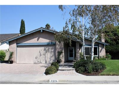 Simi Valley Single Family Home For Sale: 2326 McDonald Street