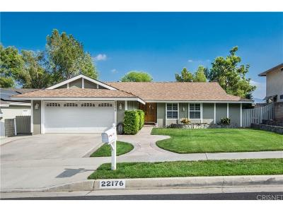 Saugus Single Family Home For Sale: 22176 Canones Circle