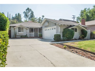 Woodland Hills Single Family Home For Sale: 22152 Del Valle Street