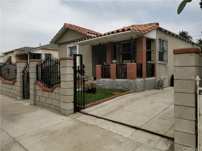 Los Angeles Single Family Home For Sale: 1449 West 98th Street