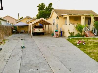 Los Angeles Single Family Home For Sale: 1722 East 64th Street