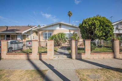 Los Angeles Single Family Home For Sale: 1025 West 56th Street