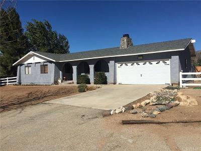 Acton Single Family Home For Sale: 32484 Aliso Canyon Road