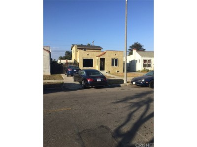 Los Angeles Single Family Home For Sale: 733 West 104th Street