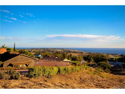 Malibu Single Family Home For Sale: 29910 Cuthbert Road
