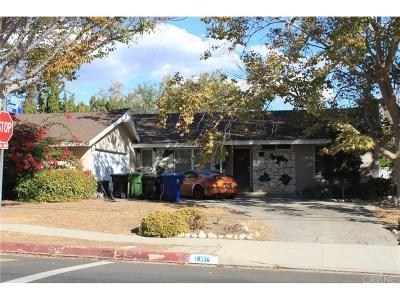 Chatsworth Single Family Home For Sale: 10556 Lurline Avenue