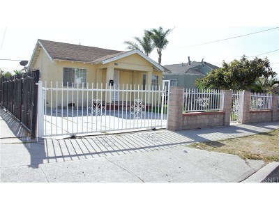 Inglewood Single Family Home For Sale: 3200 West 109th Street