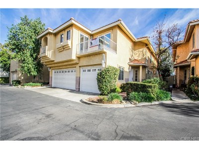 Canyon Country Condo/Townhouse For Sale: 18511 Himalayan Court