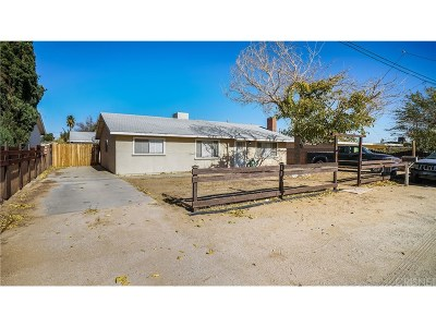 Quartz Hill CA Single Family Home For Sale: $285,000