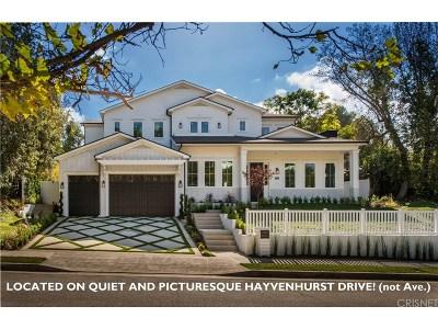 Encino Single Family Home For Sale: 4143 Hayvenhurst Drive