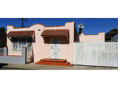 Los Angeles Single Family Home For Sale: 335 West 63rd Place