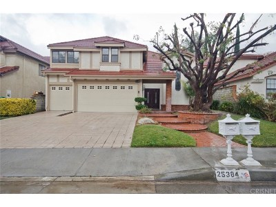 Stevenson Ranch Single Family Home For Sale: 25384 Irving Lane