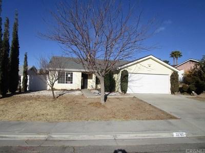 Rosamond Single Family Home For Sale: 3741 Scherer Drive