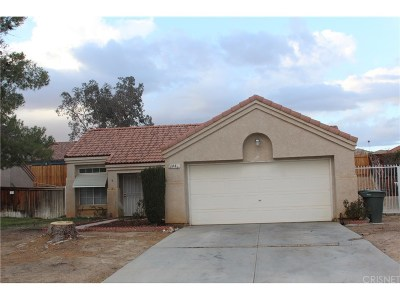 Rosamond Single Family Home For Sale: 1441 Birchtree Court