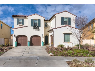 Saugus Single Family Home For Sale: 27619 Camellia Drive