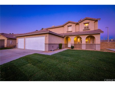 Lancaster Single Family Home For Sale: 45836 Barham Avenue